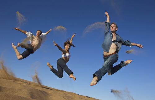 Dancers Travis Walker, Ashley Werhun and John Michael Schert from the Trey McIntyre Project.  Courtesty Lois Greenfield