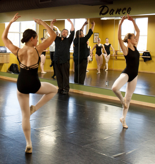 Trent Nelson  |  The Salt Lake Tribune Derryl Yeager teaching a ballet class at the Pioneer High School for the Performing Arts Tuesday November 13, 2012 in American Fork.