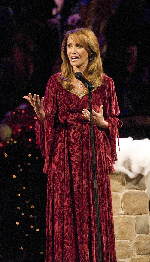 Paul Fraughton | The Salt Lake Tribune With the support of dancers and the Tabernacle Choir, guest star Jane Seymour tells the story of Good King Wenceslas at The Mormon Tabernacle Choir's 2011 Christmas extravaganza at the LDS Conference Center.