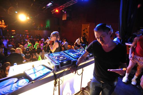 Stephen Speckman  |  Special to the Tribune Halloween revelers enjoy the sounds of DJ StoneBridge and vocalist Krista Richards at Mixx, 615 W. 100 South, Salt Lake City.
