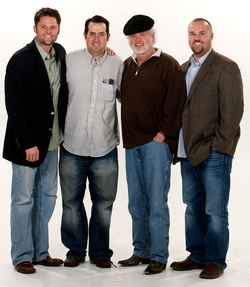 Trent Nelson  |  The Salt Lake Tribune Justin, Merrill and Shane Osmond will be producing the inaugural Youth Pioneer Pageant in West Jordan around Pioneer Day weekend in 2012. The three were photographed Wednesday, February 1, 2012 in Salt Lake City, Utah. Second from left, David Burger
