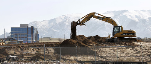 File photo     The Salt Lake Tribune Falcon Hill National Aerospace Research Park a massive business park being developed on the west side of Hill Air Force Base.  To the left is the Northrop Grumman ICBM Building, the first commercial building. It was dedicated March 12.