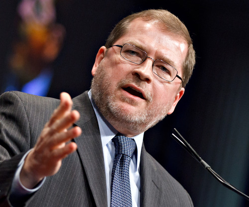 FILE -- In this Feb. 11, 2012 fie photo, anti-tax activist Grover Norquist, president of Americans for Tax Reform, addresses the Conservative Political Action Conference (CPAC) in Washington. For decades, Norquist vowed to drive Republicans out of office if they didn't pledge to oppose tax increases. Many signed on, but now, several senior Republican lawmakers are breaking ranks, willing to consider raising more money through taxes as part of a deal with Democrats and the White House to avoid a catastrophic budget meltdown. (AP Photo/J. Scott Applewhite, file)