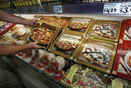 Scott Sommerdorf  |  The Salt Lake Tribune               Frozen pizzas at Utah's first Trader Joe's store, which opens Nov. 30 in Salt Lake City.