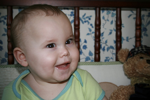 "Courtesy of Matthew Might Following a near-death experience in the hospital, Bertrand, pictured here at 9 months, spent two months seizure-free. He was smiling and learning. ""They were the best two months of our lives,"" wrote Matthew in his blog."