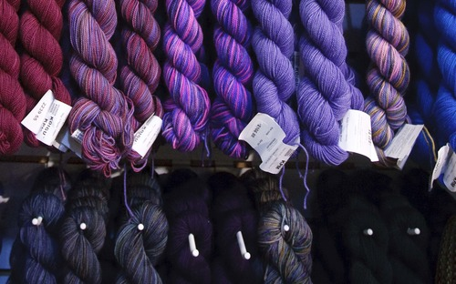 Leah Hogsten  |  The Salt Lake Tribune Blazing Needles, a Sugar House knitting store, is getting advice on hiring and other matters from a volunteer mentor with SCORE, an organization that assists small businesses.