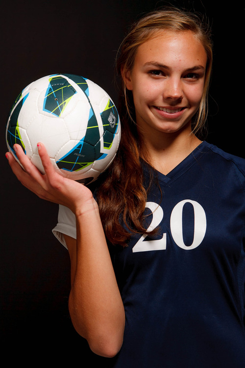 Trent Nelson  |  The Salt Lake Tribune Waterford's Grace Sponaugle (2A), soccer MVP. Wednesday November 14, 2012 in Salt Lake City.