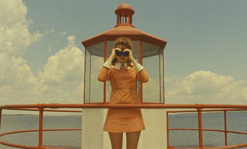 """Suzy (Kara Hayward) maintains a vigil atop her family's seaside house in Wes Anderson's """"Moonrise Kingdom."""" Courtesy Niko Tavernise     Focus Features"""