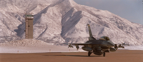 An F-16 taxing at Hill AFB.  File photo