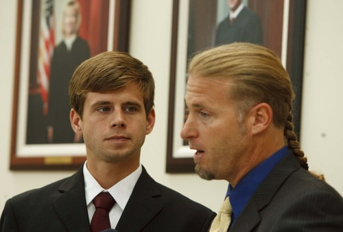 Leah Hogsten  |  Tribune file photo Florida resident Ramsey Shaud, left, appeared in Utah's Supreme Court, with his attorney Daniel Drage, in 2011 in his parental rights case.