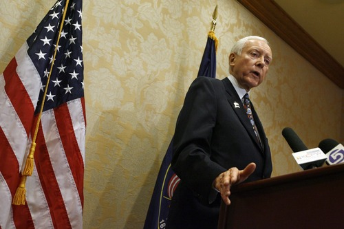Francisco Kjolseth  |  Tribune file photo Sen. Orrin Hatch, R-Utah, says the United States should cut off funding to the United Nations after its vote to grant Palestine new status.