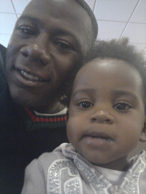 Courtesy photo Terry Achane, of South Carolina, with his daughter, whom he named Teleah, after a court hearing in Utah. The child, now 21 months, was placed for adoption at birth without his knowledge or consent.
