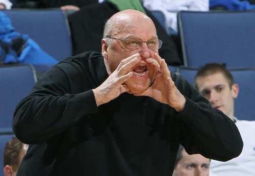 Chris Lee   St. Louis Post-Dispatch SLU head coach Rick Majerus gives directions from the sidelines during a game between St. Louis University and La Salle at Chaifetz Arena in St. Louis, Missouri February 9, 2011.