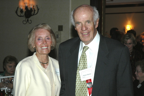 Homer Warner, one of the grandfathers of biomedical informatics, pictured with his first wife, Kay Warner, who died in 2006. Courtesy University of Utah Department of Public Affairs