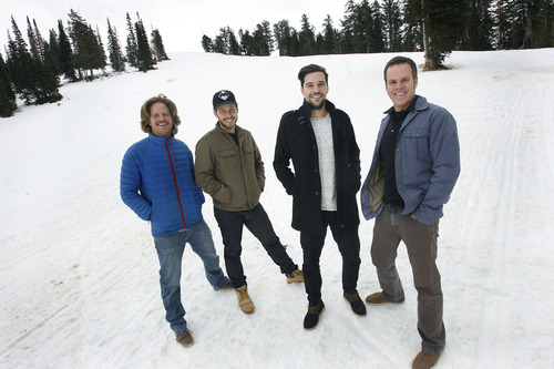 Scott Sommerdorf  |  The Salt Lake Tribune               Powder Mountain ski resort above Ogden has been sold to Summit Group, whose 20-something owners include, from left, Thayer Walker, Elliott Bisnow and Jeff Rosenthal. Mountain Manager Gregg Greer, far right, will remain on staff to manage the mountain.