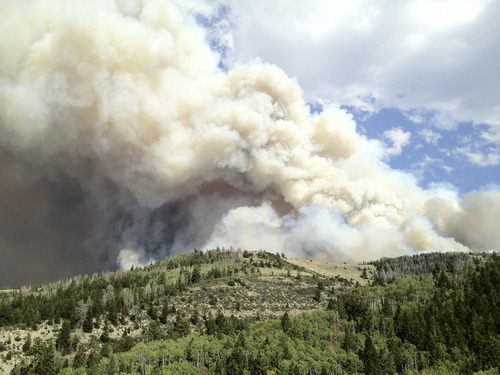 Courtesy of Tom Kelly The Church Camp Fire burns Tuesday, June 26, 2012.