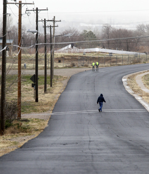 Al Hartmann  |  The Salt Lake Tribune  The view looking down what was formerly 12th Street, which is now  renamed Solesbee Street to honor Tech Sgt. Kristoffer Solesbee, killed in Afghanistan in 2011.