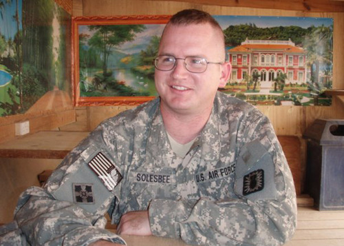 Tech. Sgt. Kristoffer Solesbee, a who died May 26, 2011, in Afghanistan. Solesbee, originally from Citrus Heights, Calif., had one of the most dangerous jobs in the military:  Dismantling bombs. Photo Courtesy of Hill Air Force Base.