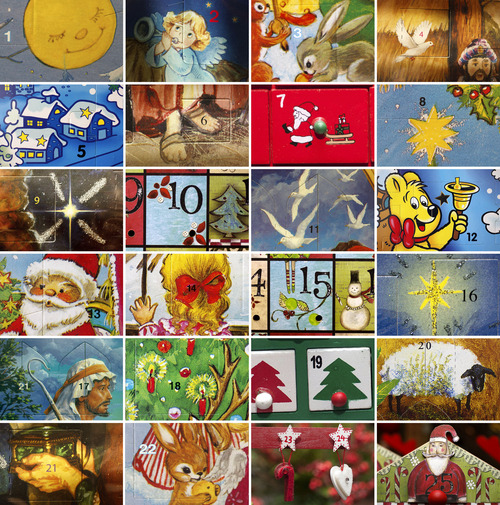 Trent Nelson  |  The Salt Lake Tribune A collection of details from advent calendars on sale at the Museum of Church History and Art, Modern Display, Mancuso's Religious Goods, Gifts & Books and The Old Dutch Shop in Salt Lake City.