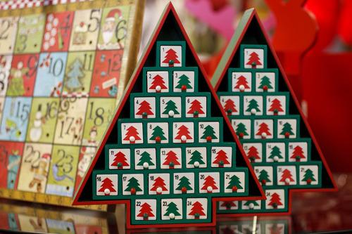 Trent Nelson  |  The Salt Lake Tribune Advent calendars on sale at Modern Display in Salt Lake City.