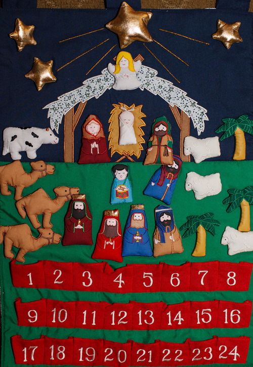 Trent Nelson  |  The Salt Lake Tribune An advent calendar on sale at the Museum of Church History and Art in Salt Lake City.
