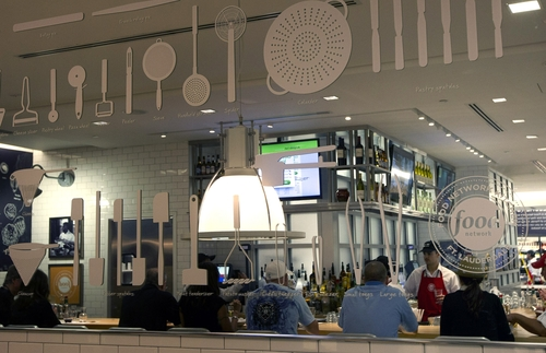 FILE - In this Wednesday, Nov. 14, 2012 file photo, the interior of the Food Network Kitchen is seen in the reflection of a mirror at the Fort Lauderdale-Hollywood International Airport, in Fort Lauderdale, Fla. U.S. service companies grew at a slightly faster pace in November because sales and new orders rose, a good sign for the economy. The Institute for Supply Management says its index of non-manufacturing activity rose to 54.7 from 54.2 in October. Any reading above 50 indicates expansion. November's figure is above the 12-month average of 54.4 (AP Photo/J Pat Carter, File)