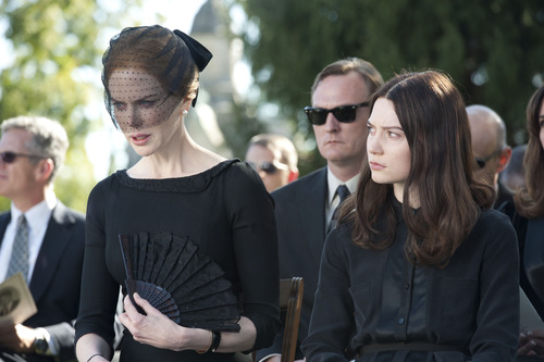"""Nicole Kidman (left) and Mia Wasikowska star in the thriller """"Stoker,"""" the English-language debut of Korean director Park Chan-Wook (""""Oldboy""""). The movie is on the Premieres slate of the 2013 Sundance Film Festival. Courtesy Macall Polay  