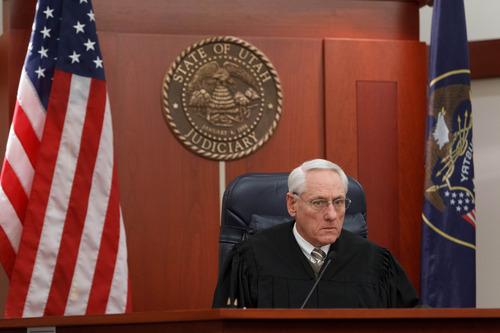 Trent Nelson  |  The Salt Lake Tribune Judge Paul Maughan sentences Curtis Allgier to multiple prison terms Wednesday December 5, 2012 in Salt Lake City.