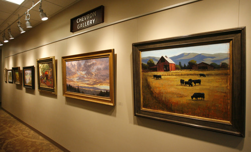 Rick Egan  | The Salt Lake Tribune   The Chevron Gallery, in the new Davis County Administration Building, which is both a business office and an gallery full of paintings and other artworks. Wednesday, November 28, 2012.