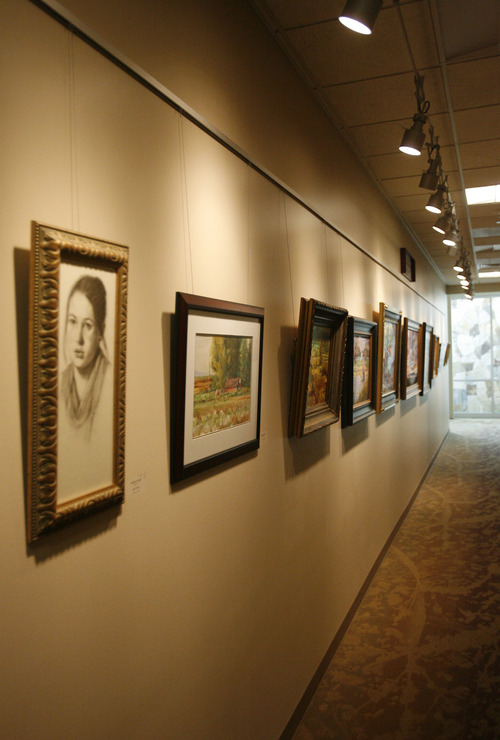 Rick Egan  | The Salt Lake Tribune The Chevron Gallery, in the new Davis County Administration Building, which is both a business office and an gallery full of paintings and other artworks.