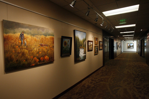 Rick Egan  | The Salt Lake Tribune   The new Davis County Administration Building is both a business office and an gallery full of paintings and other artworks. Wednesday, November 28, 2012.