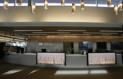Rick Egan  | The Salt Lake Tribune   The Davis County Headquarters Library in Farmington opened in October.  Wednesday, November 28, 2012.