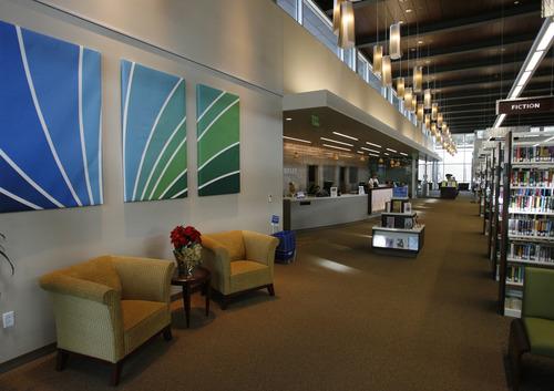 Rick Egan  | The Salt Lake Tribune   The new Davis County Headquarters Library includes cozy reading areas.