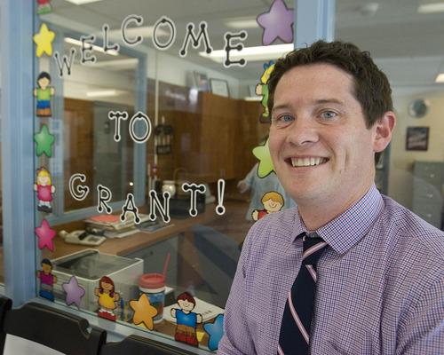 Paul Fraughton | Salt Lake Tribune Matt Nelson, the new principal at Grant Elementary  in Murray.  Wednesday, November 7, 2012