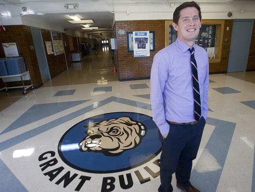 Paul Fraughton  |  Salt Lake Tribune Matt Nelson, the new principal at Grant Elementary  in Murray.