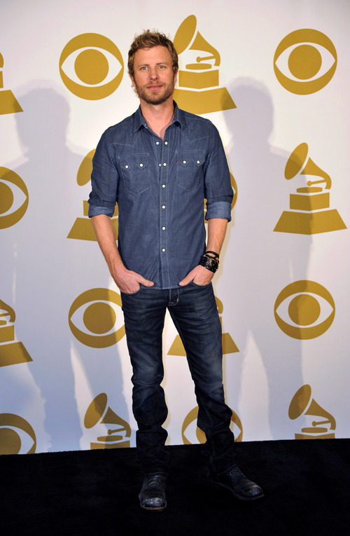 Country Artist Dierks Bentley poses for a photo backstage at the Grammy Nominations Concert Live! at Bridgestone Arena on Wednesday, Dec. 5, 2012, in Nashville, Tenn. (Photo by Donn Jones/Invision/AP)