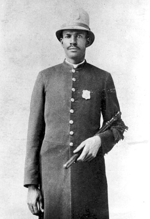 Paul Cephas Howell (circa 1880) was a Mormon who moved to Salt Lake City from the South in 1874. Howell became the very first African-American police detective in Utah and the United States. Photo Courtesy Utah State Historical Society