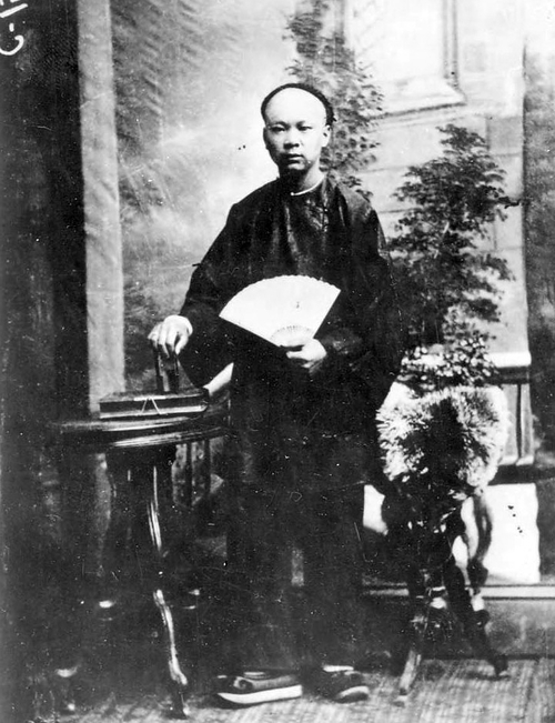 An early Chinese resident of Salt Lake City, Chin Sig, ca,. 1880. Photo Courtesy Utah State Historical Society