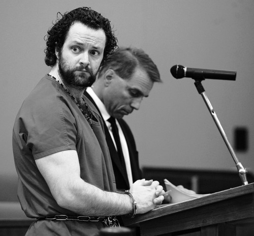 Nathanael Warren Sloop attends a felony arraignment hearing in the death of Ethan Stacy Tuesday, July 10, 2012 at Second District Court in Farmington, Utah. (NICK SHORT/Standard-Examiner)