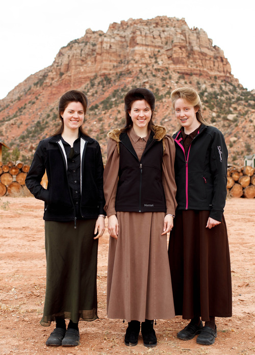 Trent Nelson  |  The Salt Lake Tribune Helen Holm, Heidi Holm and Allie Steed recently left the FLDS church.