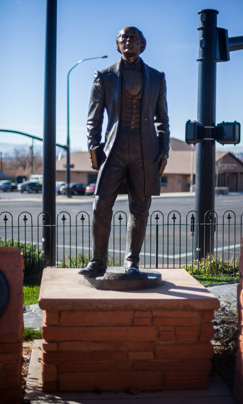 Trevor Christensen | Special to the Tribune  A statue of Robert D. Covington at the Washington City Museum in Washington, Utah, on Saturday, Dec. 8, 2012.