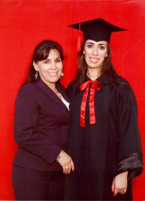 A photo of Gabriela Caballero and her mother Mirta López (left) courtesy of the Caballero family.  When Gabriela was killed in an auto-pedestrian accident a year ago, the 25-year-old organ donor's heart went to Salt Lake City resident Allyson Gamble. Mirta López has become close with the Gamble family.