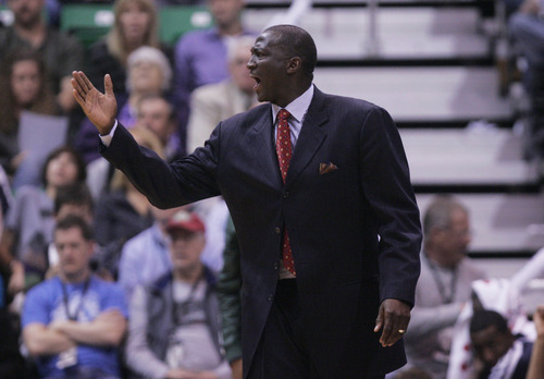 Kim Raff  |  The Salt Lake Tribune Utah Jazz head coach Tyrone Corbin during a game against the Orlando Magic at EnergySolutions Arena in Salt Lake City on December 5, 2012.