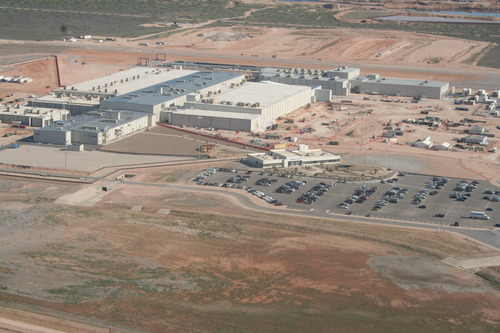 courtesy photo The mile-square Urenco USA plant has been an economic engine for the Eunice, N.M., area since construction began in 2006. The plant began production in 2010. It has invested over $3 billion to date in the community and local economy.