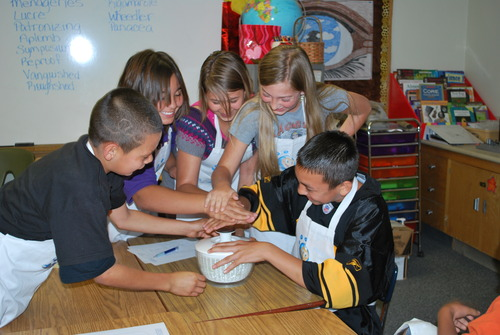 courtesy photo Fifth grade students in Eunice, N.M., attend one of the workshops offered by Urenco. The company covers topics such as what is an isotope? What is centrifugal force? And explains the ways of separating matter.