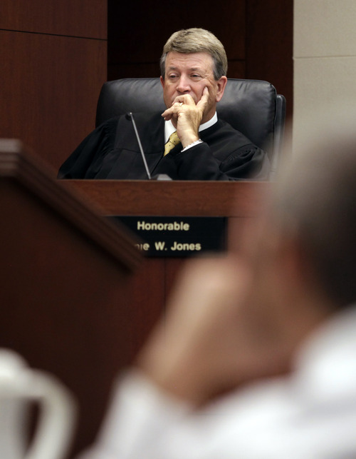 Judge Ernie W. Jones listens to opening arguments during the State versus Skyler Shepherd trial at the 2nd District Courthouse in Ogden on Monday, December 10, 2012.  (KERA WILLIAMS/ Standard-Examiner)
