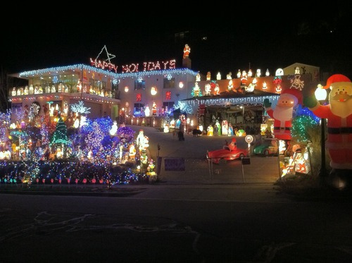 """Sean P. Means     The Salt Lake Tribune """"Frosty's Winter Wonderland,"""" in Salt Lake City's Avenues neighborhood, takes Christmas decorating to the extreme."""