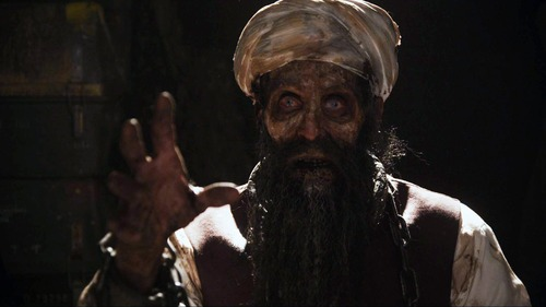 "|  Arrowstorm Entertainment A zombie Osama Bin Laden is the villain in the made-in-Utah horror movie ""Osombie."""