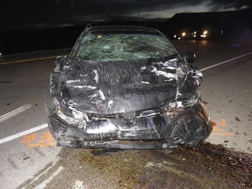 A 12-year-old boy died Thursday in a two-vehicle accident on U.S. 40 near the town of Fort Duchesne in Uintah County.  Courtesy Utah Highway Patrol