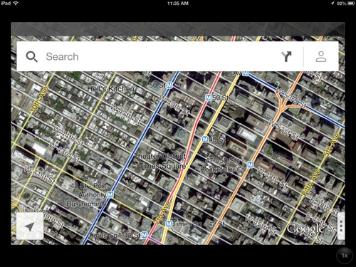 In this screenshot of an iPad, the new Google Maps application is demonstrated in New York on Thursday, Dec. 13, 2012. The world's most popular online mapping system returned late Wednesday with the release of the Google Maps iPhone app. The release comes nearly three months after Apple Inc. replaced Google Maps as the device's built-in navigation system and inserted its own map software into the latest version of its mobile operating system. (AP Photo/Google)